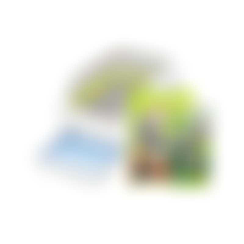 UniCharm DeoToilet Half Cover Cat Litter Bin w/ Starter Kit-  Color: Ivory