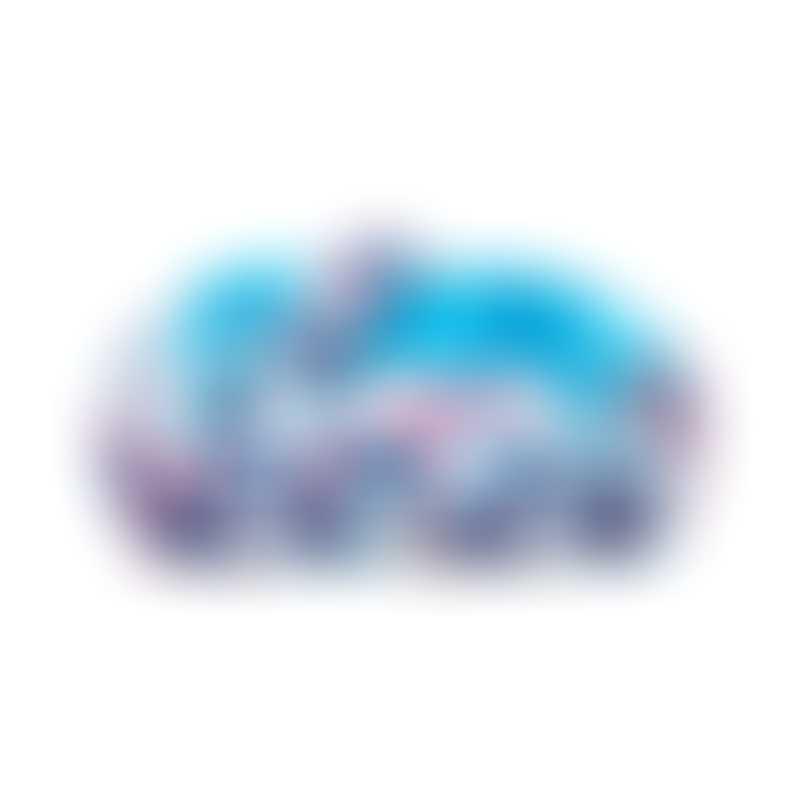 Doggie Goodie Kingston Sofa-  Aqua & Red Floral Pint/Large