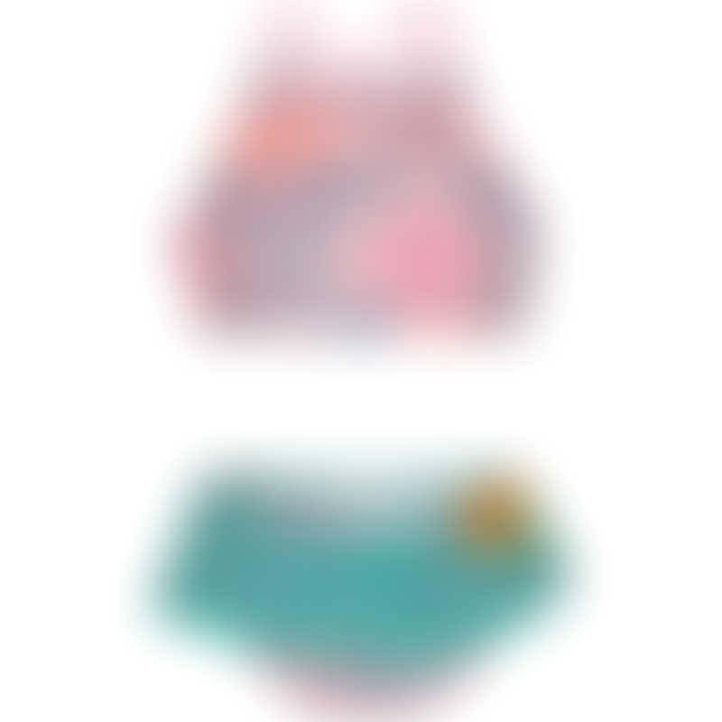 Platypus Secret Garden UPF50+ Hi Neck Bikini - Size 2 to 14
