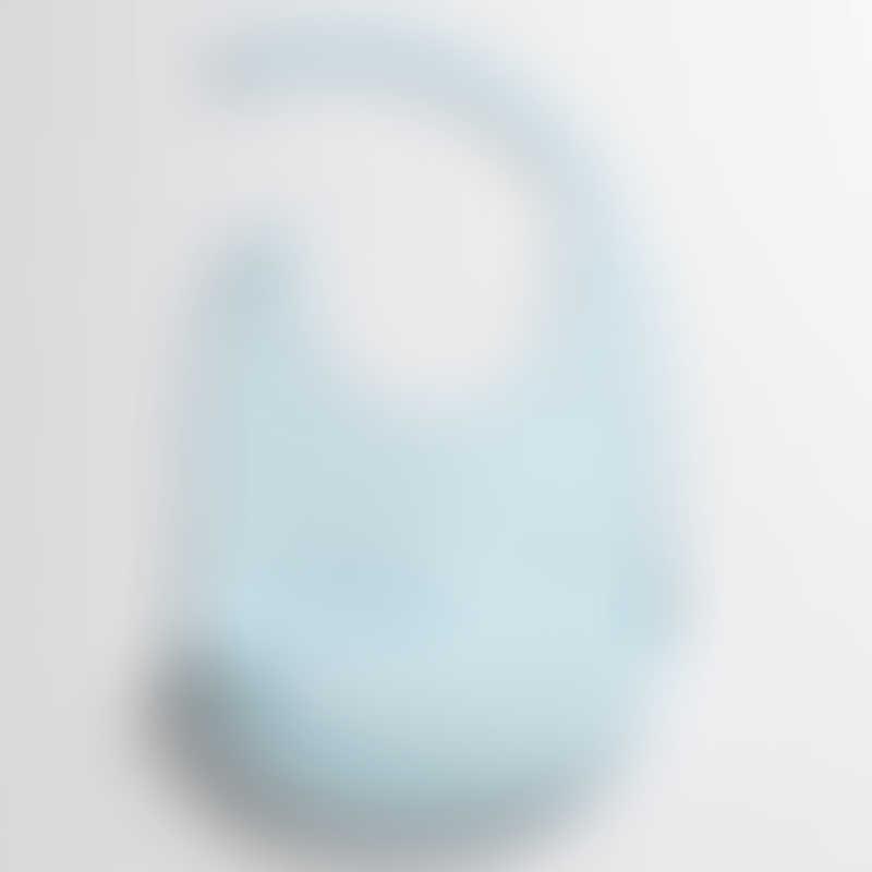 Miniware Roll & Lock Silicone Bib - Aqua