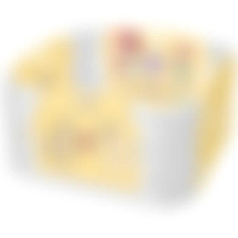 Haenim Toy Signature Baby Room and Play Mat Set - Pastel Yellow (116 x 116 x 60 cm)