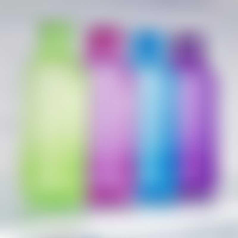 Sistema Square Bottle 475ml (color may vary: Blue/Green/Pink/Purple/Black/Orange)