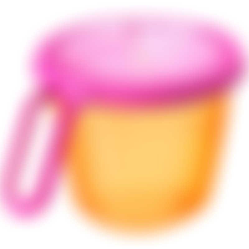 Tommee Tippee Snack N Go Pot 12m+ - Orange/Pink