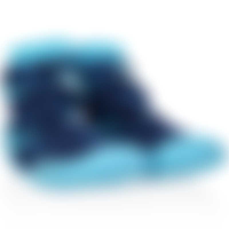 Nuby Snekz Sock & Shoe - Blue Sharks - Large 135mm