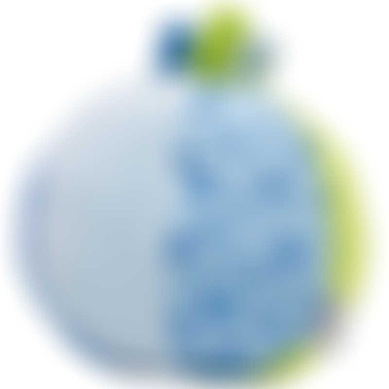 Goki Soft Ball Rattle ø10cm - Blue / Green