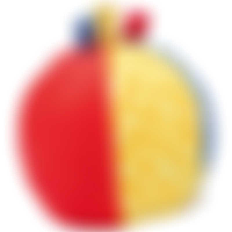 Goki Soft Ball Rattle ø10cm - Blue / Red / Yellow