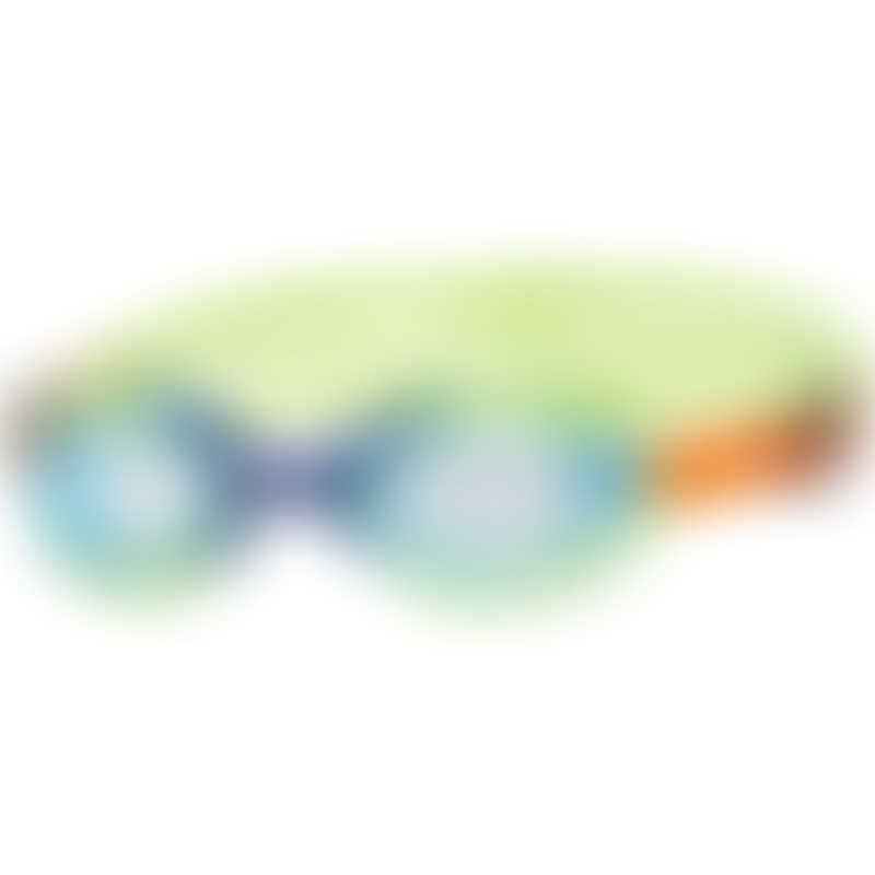 Zoggs Sonic Air Junior Goggles 6-14y - Green/Blue - Tinted Blue Lens