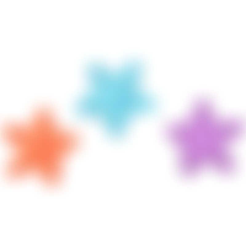 Splash About Splash Jacks Pool Teether Toys 3-Pack - Purple/Orange/Blue