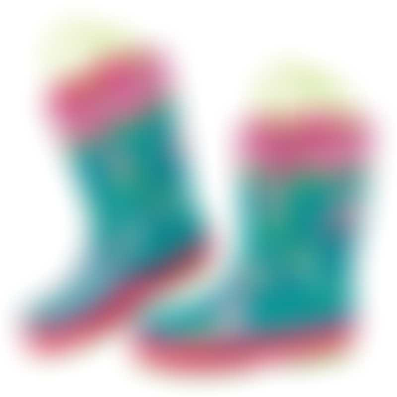 Stephen Joseph All-Over Print Rain Boots - Mermaid