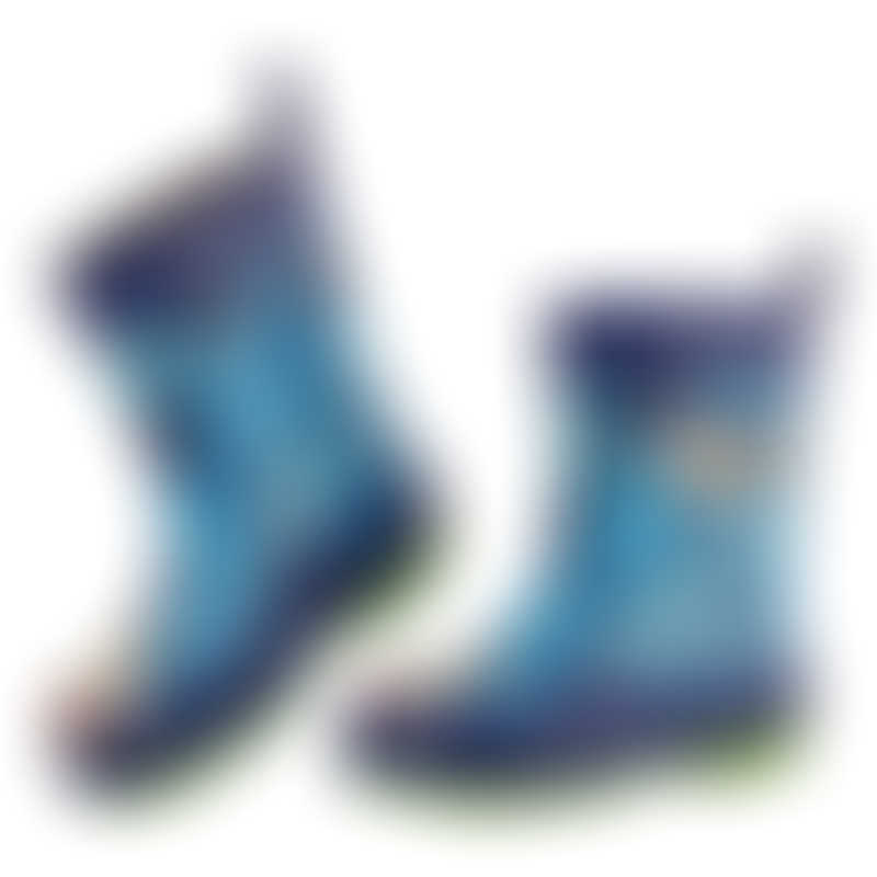 Stephen Joseph Rain Boots - Shark (Size 6)