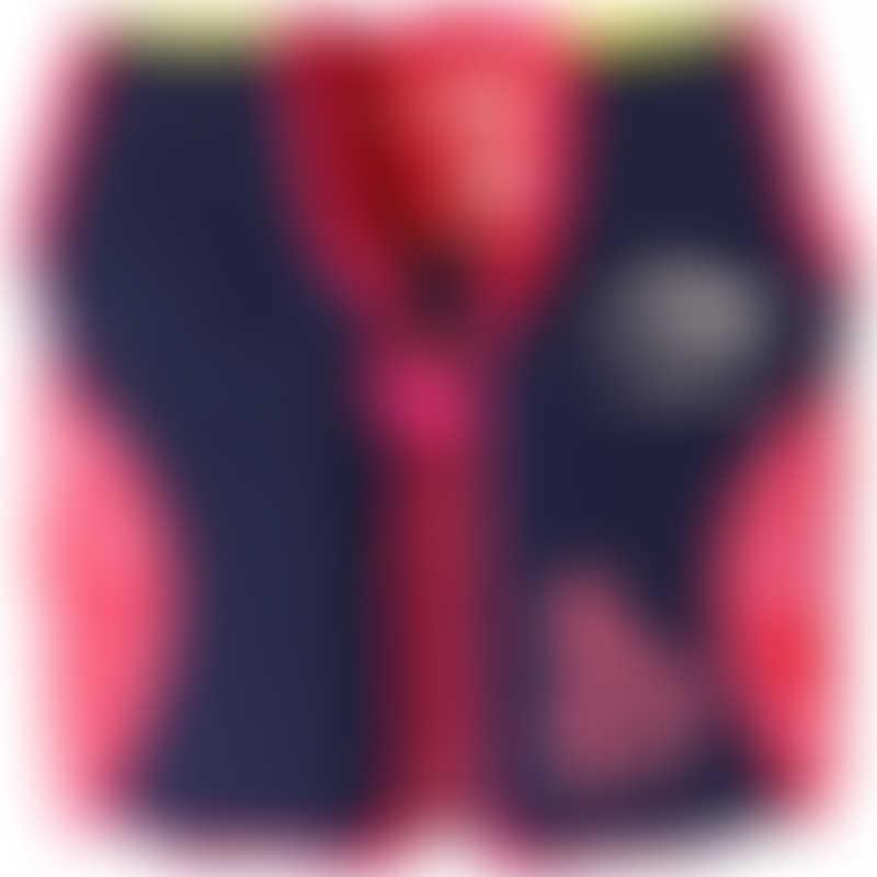 Konfidence Swim Jacket - Navy/Pink/Hibiscus
