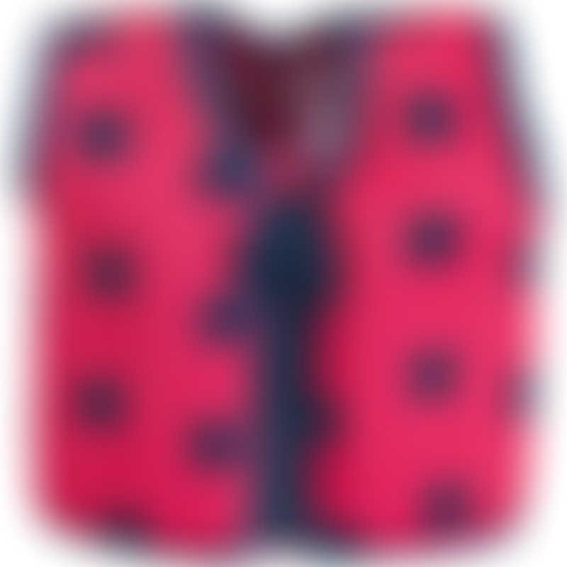 Konfidence Swim Jacket - Pink/Navy Ladybird