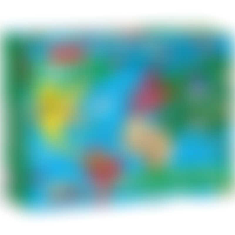 Melissa & Doug World Map Floor Puzzle - 33 Pieces