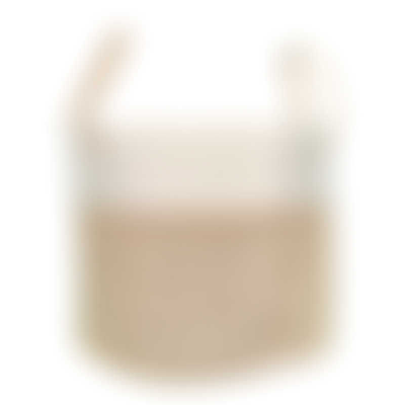 Baby Central Natural/White Rope Storage Basket